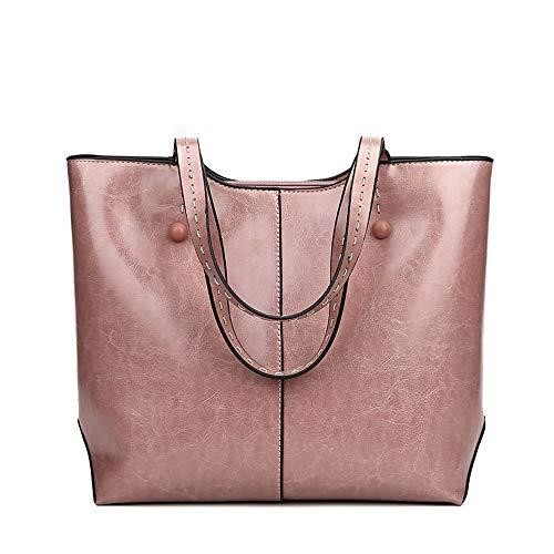 Pu Las Qztg Mujeres Cremallera Negro Pink Rosa Mochila Bolsos Browncross De Hombro Blushing Bolso YYS4qT