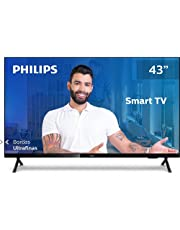 "Smart TV Philips 43PFG6825/78-43"" Full HD sem bordas, HDR Plus, 3 HDMI, 1 USB, Wifi Miracast, Conversor digital, Netflix, Youtube, Globoplay e Prime Video"