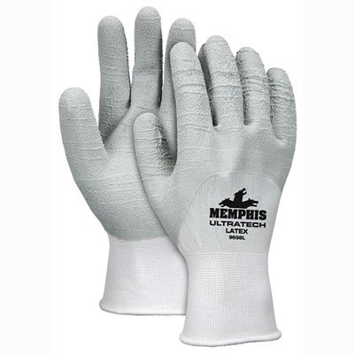 MCR Safety UltraTech Latex Palm Coated Nylon Gloves, X-Large (24 Pairs)