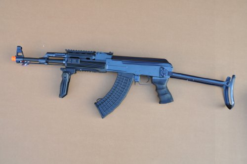 JG AK47 RIS 430 FPS AIRSOFT ELECTRIC AEG RIFLE W UPGRADED METAL GEAR BOX & (Metal Gearbox Receiver)