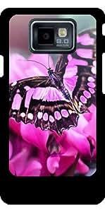 Funda para Samsung Galaxy S2 (GT-I9100) - Mariposa En La Flor Rosada by WonderfulDreamPicture