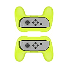 Joy-Con Grip Controller for Nintendo Switch, Neropoke Joy Con Handle Kits Comfort Protective Case for All Nintendo Switch Game (Green)