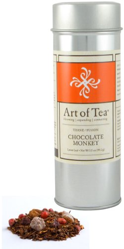 Art of Tea Organic Chocolate Monkey Tisane Tea - 3oz Tin