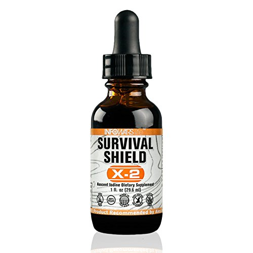 Survival Shield X 2 Nascent Iodine Supplement  1 Fl  Oz    Potent Thyroid Support  Boost Energy Levels   Metabolism   Vegan  Non Gmo   Gluten Free Liquid Drops