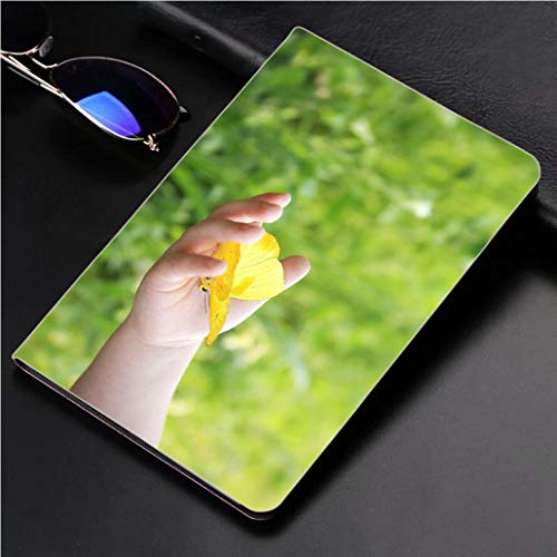 Compatible with 3D Printed iPad Pro 10.5 Case Childs Hand Holding Orange Barred Sulphur Butterfly Outside 360 Degree Swivel Mount Cover for Automatic Sleep Wake up ipad case -