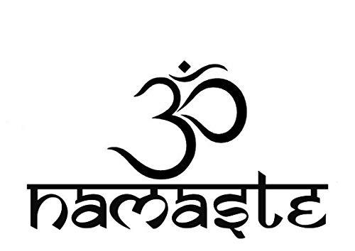 Creative Concepts Ideas Namaste OM Symbol Yoga Meditation CCI Decal Vinyl Sticker|Cars Trucks Vans Walls Laptop|Black|5.5 x 3.25 in|CCI2213 (Om Vinyl Wall Decal)