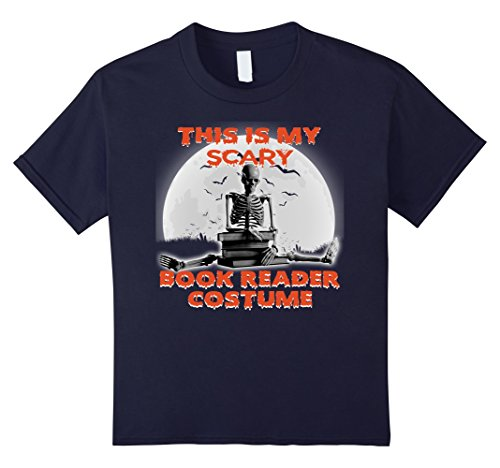 Kids this is my scary Book Reader Costume - halloween T-Shirt 12 Navy - Mom N Son Halloween Costumes