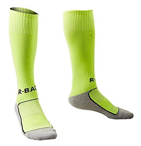 Boys Girls Soccer Socks Lime Green