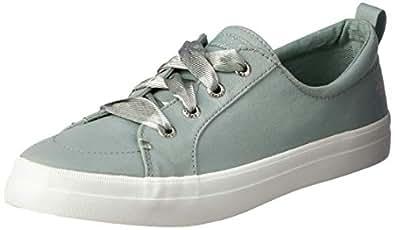 Sperry Women's Crest Vibe Satin LACE Sneaker, Mint, M 050 Medium US