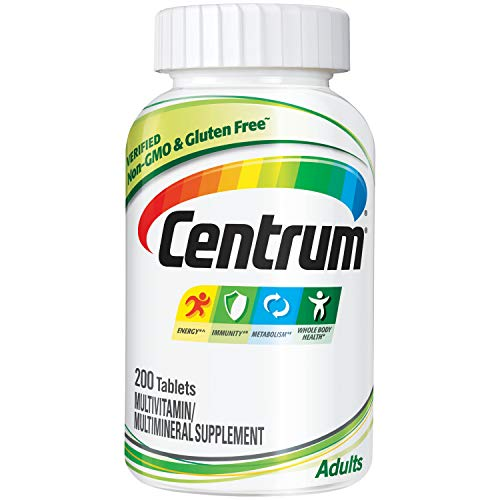 Centrum Adult (200 Count) Multivitamin / Multimineral Supplement Tablet, Vitamin D3 (Best Generic Drug Companies)