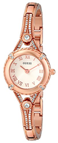 GUESS Women's U0135L3 Petite Embellished Crystal Rose Gold-Tone ()