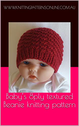Baby S 8ply Textured Beanie Knitting Pattern Riley Kindle