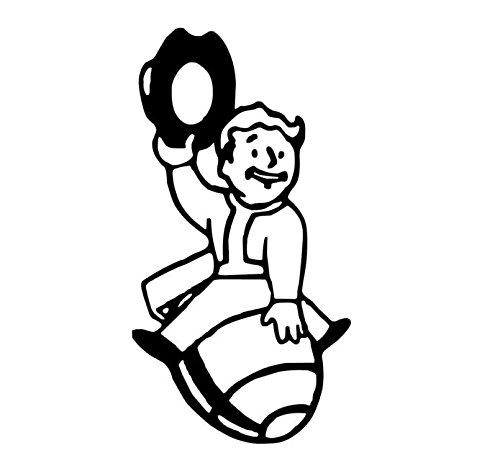 Fallout 4 Bomb Cowboy, Fallout 4 Bomb Rider, Vault Boy Bumper Sticker, Vault Boy Fallout Rodeo