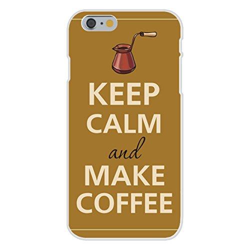 Apple iPhone 6+ (Plus) Custom Case White Plastic Snap On - Keep Calm and Make Coffee Pot