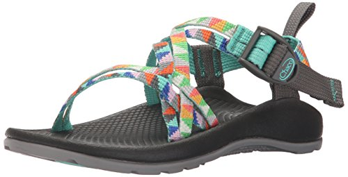 Chaco ZX1 Ecotread Kids Sport Sandal (Toddler/Little Kid/Big Kid), Camper Turquoise, 1 M US Little Kid