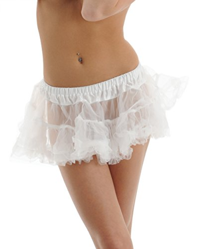 White Petticoat 2 Layer Crinoline Halloween Costume Dance Accessory