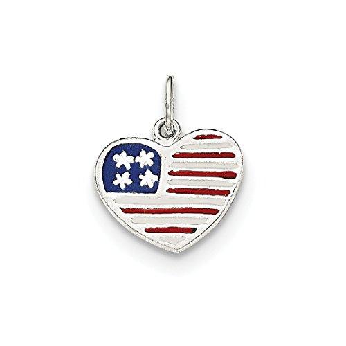 Solid Flag Heart Pendant - ICE CARATS 925 Sterling Silver Enamel American Flag Heart Pendant Charm Necklace Love Patriotic Fine Jewelry Ideal Gifts For Women Gift Set From Heart