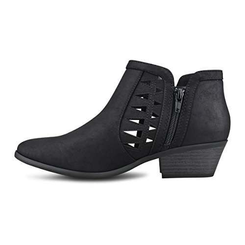 Strap Women's Multi Toe Black Nbpu Premier Closed Bootie Standard Ankle 4q5TqXIwx