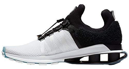 7f56051e5e7 Galleon - NIKE Men s Shox Gravity White Black White Nylon Running Shoes 11  (D) M US