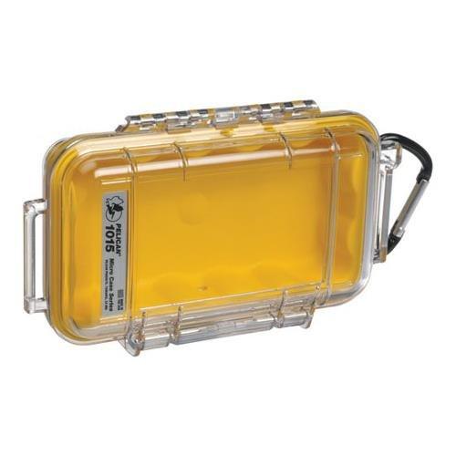 1015 Micro Case - Pelican 1015 Micro Case w/Clear Lid - Yellow