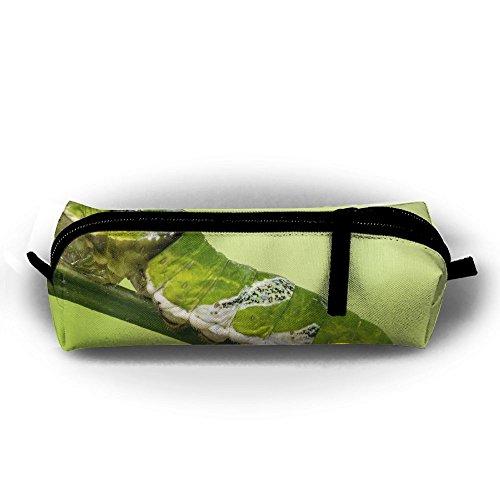 (EWFBVa Durable Zipper Stationery Bag Unidentified Papilio Larva Stratford Butterfly Farm Big Capacity Pencil Case )