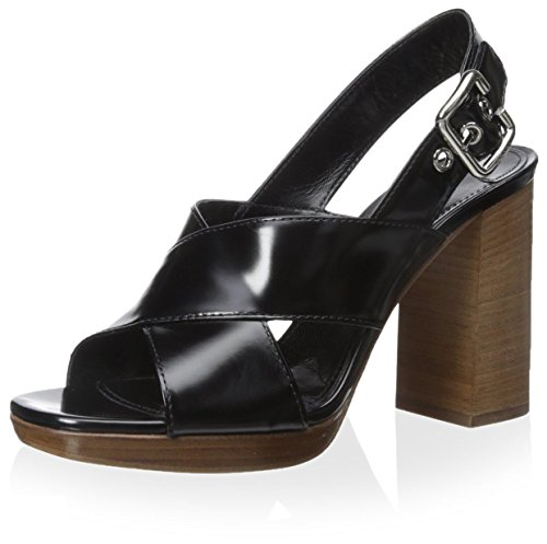 Prada Women's Dress Sandal, Black, 40 M EU/10 M - Shoes Online Prada