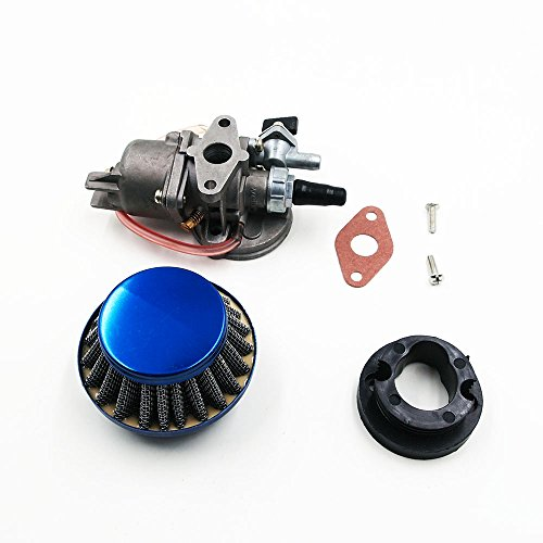 QUIOSS Carburetor Carb W/Air Filter Gasket Stack for 43cc 47cc & 49cc Mini Moto ATV Dirt Pocket Bike
