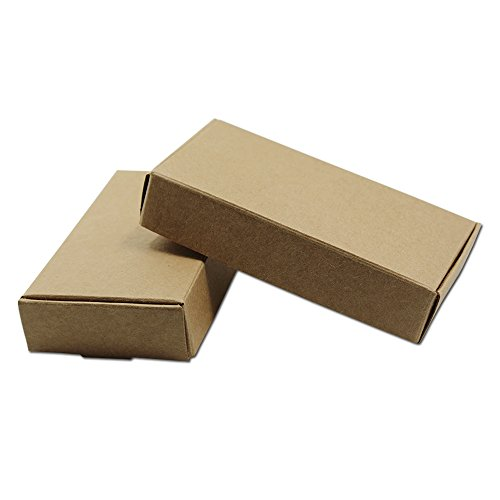 30 Pcs Rectangle Paper Mache Boxes Kraft Party Favor Gift Boxes Small Cake Take Out Containers Wedding Baby Shower Christmas Bakeware Decorating Tools Wrapping Packaging 11x6x2cm (4.3x2.3x0.8 (Small Wedding Cake)