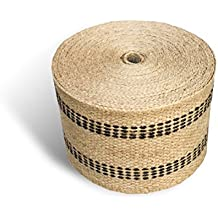 """Upholstery or Craft Jute Webbing, 3.5"""" x 10 Yds - Natural with Black Stripes"""