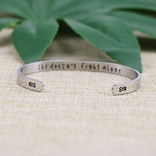 Joycuff Bracelets for Women Mantra Cuff Bangle Inspirational Jewelry Friend Encouragement Gift for Her Motivational Engraved 3