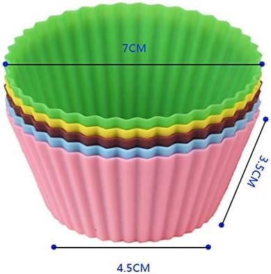 8 Couleurs 7 cm Doitsa 24pcs Ronde Tasse /à Muffins et G/âteau en Silicone pour F/ête Mariage