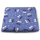 MODREACH Memory Foam Seat Cushion Tailbone/Sciatica Back Pain Relief - Office Chair Wheelchair Car Seat Cushion -Black and White Cat Moon Star