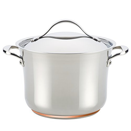 Anolon Nouvelle Copper Stainless Steel 6-1/2-Quart Covered Stockpot ()