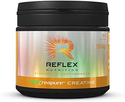 Reflex Nutrition Creapure Creatine, Kreatin-Monohydrat, Pulver, geeignet für Veganer - 250g
