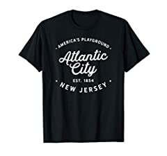 Please note the t shirt design is distressed to give a vintage, grunge, worn and faded styled appearance. Enjoy your Classic Retro Vintage Atlantic City New Jersey Tshirt! Buy this design as an amazing gift or souvenir for men, women, boys, g...