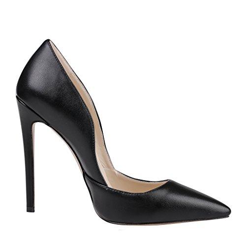 MERUMOTE - Zapatos de tacón fino Mujer Negro - Schwarz-Matte