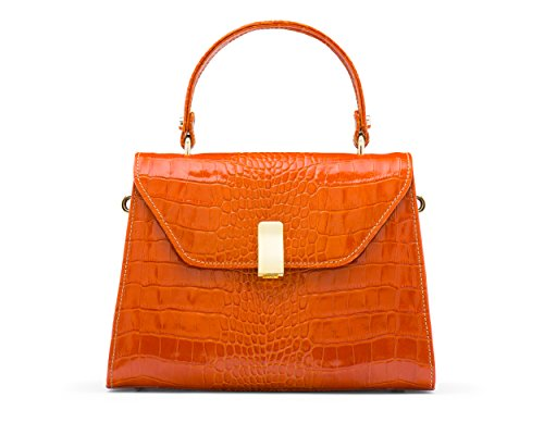 Sagebrown Le Sac Sabrina Croc Orange