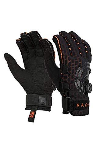 Radar Vapor A - BOA - Inside-Out Glove - Black/Orange Ariaprene - XL (Radar Waterski)