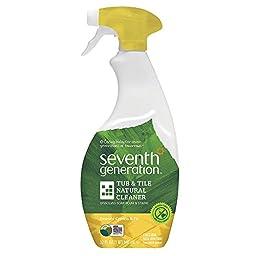 Natural Tub & Tile Cleaner, Emerald Cypress & Fir, 32 Oz Spray Bottle, 8/carton