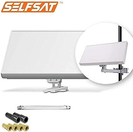Selfsat H21D+ - Antena plana para televisión por satélite ...