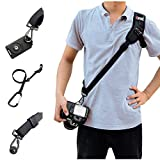 Camera Shoulder Neck Strap, SUPRBIRD Black Rapid Camera Sling Strap Quick Release with Safety Tether for Canon, Nikon, Sony All DSLR