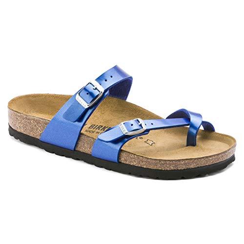 Birkenstock Women's Mayari Adjustable Toe Loop Cork Footbed Sandal MTLC Ocean 40 M EU (Best Women's Sandals 2019)