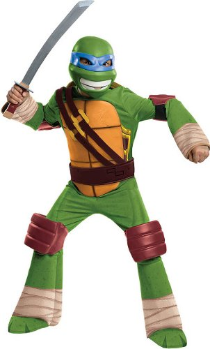 Teenage Mutant Turtle Ninja (Teenage Mutant Ninja Turtles Deluxe Leonardo Costume, Small)