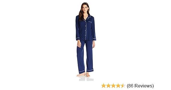 c8024eaac5e Eberjey Women s Gisele Two-Piece Long Sleeve   Pant Pajama Sleepwear Set at  Amazon Women s Clothing store