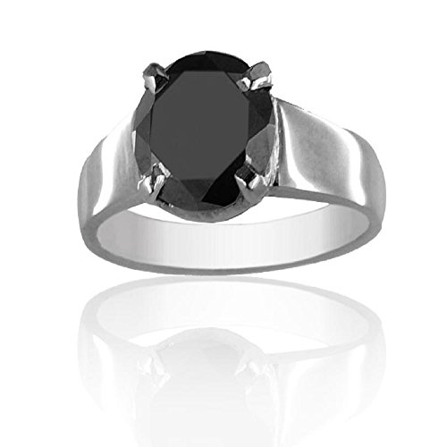 Certified 2.50 Cts Round Brilliant Cut Black Diamond Ring in 925 Silver Best Offer by skyjewels
