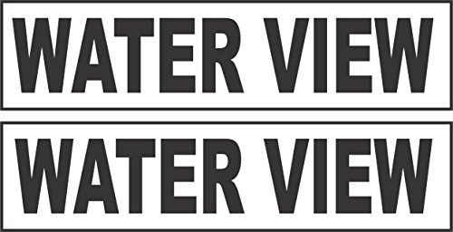 Hot 2 - 6x24 WATER VIEW Real Estate Rider Sign Black for sale