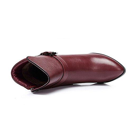 Stivaletti Tacco Alto Color Cammello Colore Rosso Taglia 39 M Eu