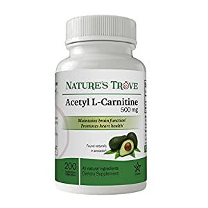 Acetyl L Carnitine (ALCAR) 500 mg by Nature's Trove 200 Vegetarian Capsules