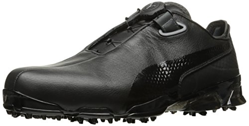 PUMA Golf Men's TT Ignite Premium DISC Golf Shoe, Black/Dark Shadow, 11 M US ()