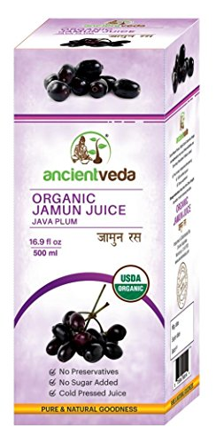 Organic Jamun Juice(Java Plum Juice) USDA Certified Organic 500ml - Ancient Veda …